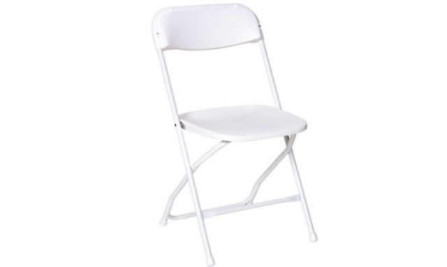 Where to find Chair, Folding Bargain White in Fresno