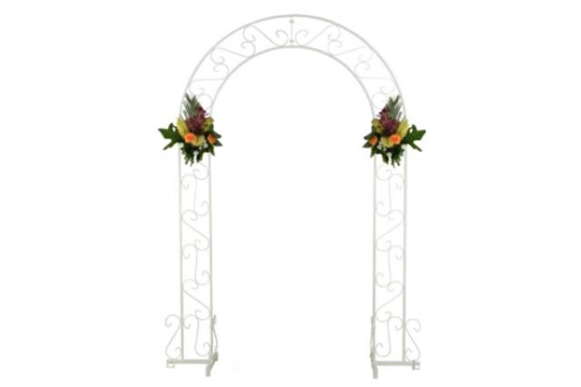 Where to find Wedding Arch 92  White in Fresno