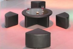 Rental store for Round Table with 4 mini Vinyl Stools in Fresno CA