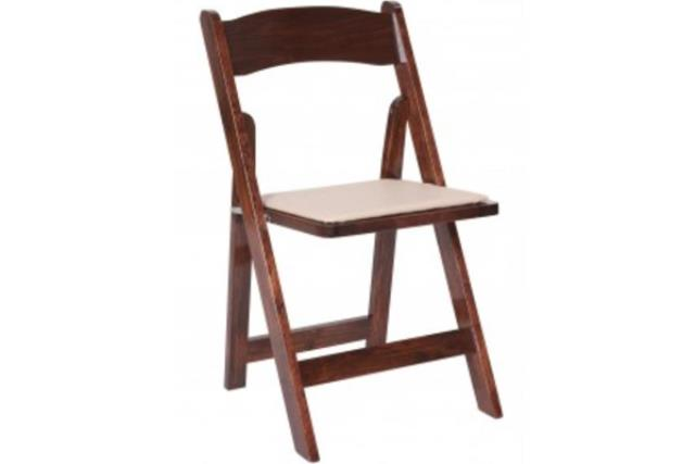 Where to find Chair, Garden Style Fruitwood w Tan pad in Fresno