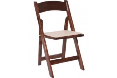 Rental store for Garden Style Fruitwood Folding Chair in Fresno CA