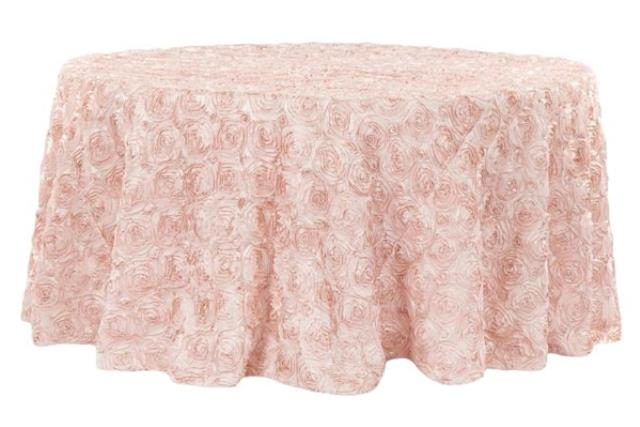 Where to find Linen Rosette 120  Round Blush in Fresno