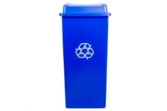 Rental store for Recycle Blue Trash Container w Lid 32gal in Fresno CA