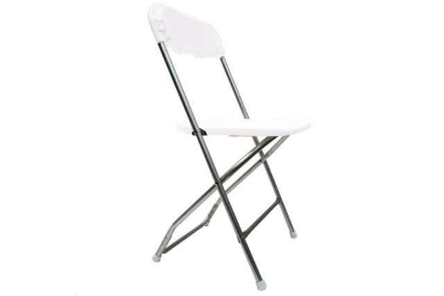 Where to find Chair, Folding Alloy White in Fresno