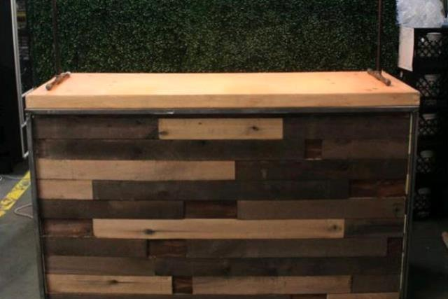 Where to find 6  Wooden Slat Bar in Fresno