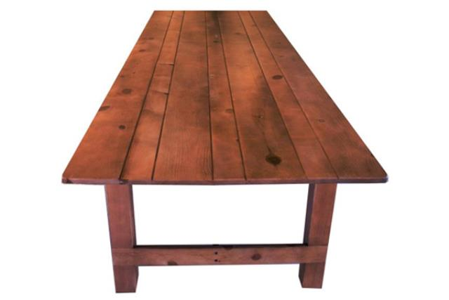 Where to find Table, Vineyard 8 x40  Folding Legs Wood in Fresno