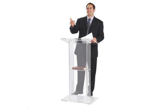 Where to find Clear Acrylic Podium  Lectern  w  Shelf in Fresno