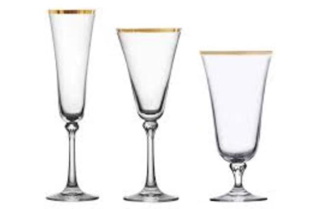 Where to find Charlotte Gold Glassware Collection in Fresno