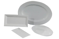Rental store for Porcelain Serving Platters in Fresno CA