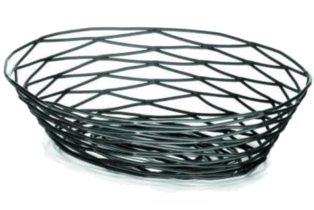 Where to find Bread Basket, Oval Artisan Metal Black in Fresno
