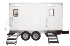 Rental store for 9 Station Luxury Mobile Restroom Trailer    400 - 1000 guests in Fresno CA