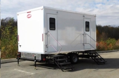 Rental store for 5 Station Luxury Mobile Restroom Trailer  200 - 600  guests in Fresno CA